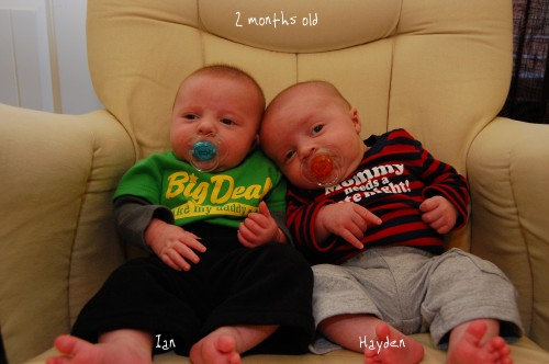 The Twins at 2 months old